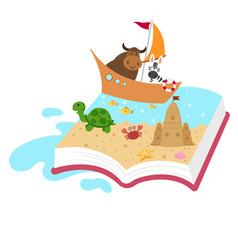 Fairytale book concept kid book vector