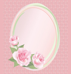 Floral background flower rose bouquet vintage vector