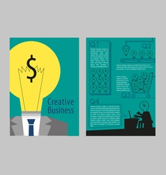 Flyer creative business concept style vector