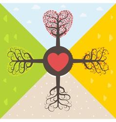 Four seasons love vector