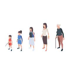 generations people kids girls daughter woman vector image