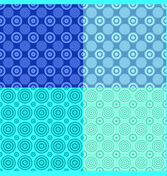 geometrical repeating pattern set - circle vector image