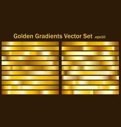 golden gradients set vector image