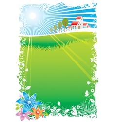 Green Village vector