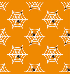 Halloween seamless spider web pattern vector