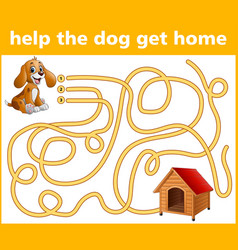 help the dogs go the way home vector image