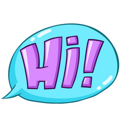 hi word vector image