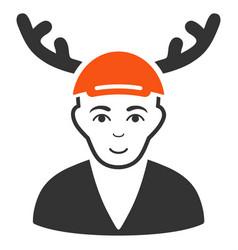 Horned boyfriend icon vector