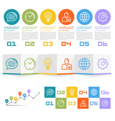 information set icons vector image