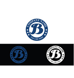 Initial letter b logo or icon design vector