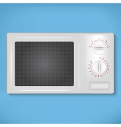 Isolated white microwave vector image