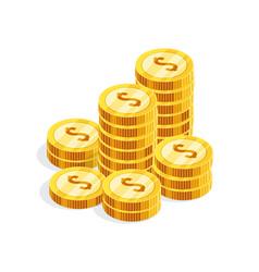 isometric money isolated on white background vector image
