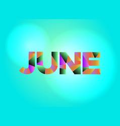 June theme word art vector