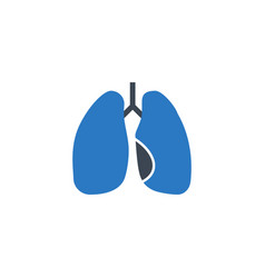 Lungs related glyph icon vector