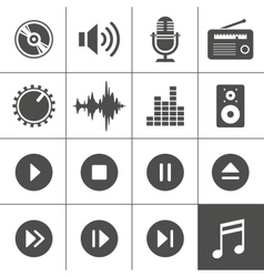 Music and sound icons - Simplus series vector