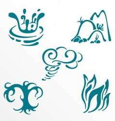 Nature elements symbols set vector image