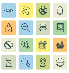 Network icons set collection of obstacle bell vector