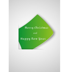Paper with wish for christmas vector