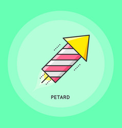 Party petard icon vector