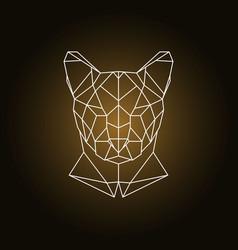 Puma head portrait polygonal style vector