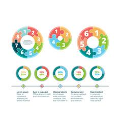 puzzle infographic business success steps idea vector image
