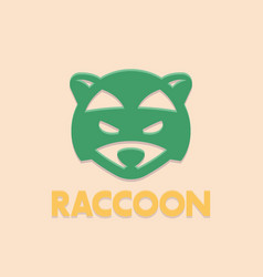 raccoon logo element head of coon vector image