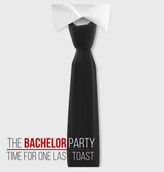 Realistic white shirt the bachelor party vector