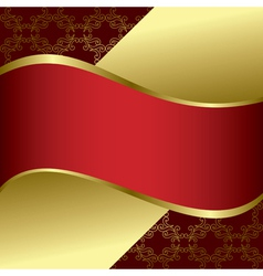 red and gold bright background vector image