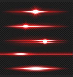 red laser beams pack vector image