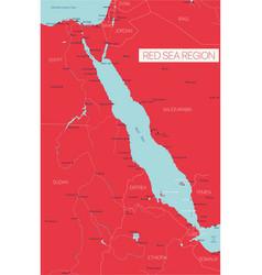 Red sea region editable map vector