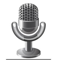 Retro steel microphone vector image