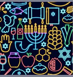rosh hashanah seamless pattern vector image