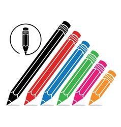 school pencils vector image