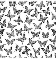 Seamless pattern with flying butterflies vector