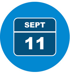September 11th date on a single day calendar vector