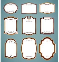 Set ornate frames vector