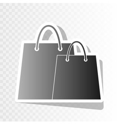 Shopping bags sign new year blackish icon vector