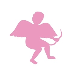Silhouette Of Cupid Saint Valentine vector
