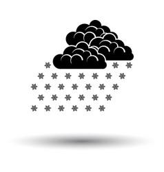 Snowfall icon vector