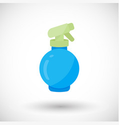 Spray bottle flat icon vector