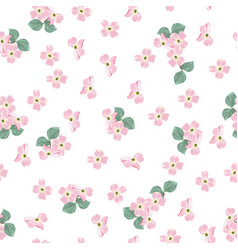 spring autumn pink flowers pattern vector image