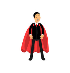 strong and powerful business man standing in vector image
