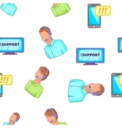 Support service pattern cartoon style vector image