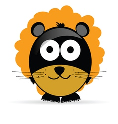 sweet and cute lion vector image