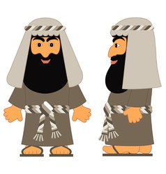 The jewish man - abraham from biblical stories vector