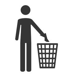 Trash can garbage icon vector