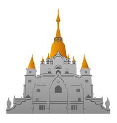 vietnam temple icon cartoon style vector image