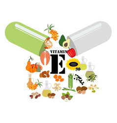 vitamin e vector image