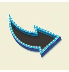 Volume retro arrow with lights vector image
