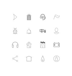 web applications linear thin icons set outlined vector image